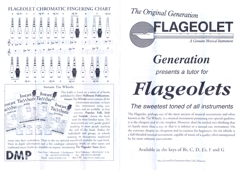 GENERATION MUSIC FLAGEOLET F - MOSAZ